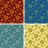 Abstract art pattern set. Colored abstract art pattern set Royalty Free Stock Image