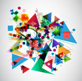 Abstract art picture. In cubism style Royalty Free Stock Photography