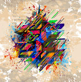 Abstract art picture. In cubism style Royalty Free Stock Photos