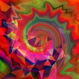 Abstract art picture. In cubism style Royalty Free Stock Image
