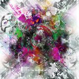 Abstract art picture. In cubism style Royalty Free Stock Photo
