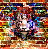 Abstract art picture with tiger Royalty Free Stock Photos