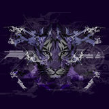 Abstract art picture with tiger Royalty Free Stock Images
