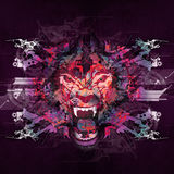 Abstract art picture with tiger. The king of animals abstract illustration royalty free illustration