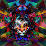 Abstract art picture with tiger Stock Photo