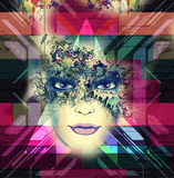 Abstract art picture with woman Stock Image