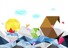 Abstract art polygon background. Vector abstract art polygon background Royalty Free Stock Image