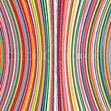Abstract art rainbow curved lines color background Royalty Free Stock Images