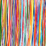 Abstract art rainbow curved lines colorful background. Illustration Royalty Free Stock Photos