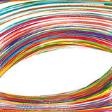 Abstract art rainbow curved lines colorful background. Illustration Royalty Free Stock Images