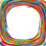 Abstract art rainbow curved lines colorful background. Illustration Royalty Free Stock Image