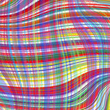 Abstract art rainbow curved lines colorful background Stock Photos