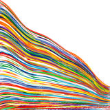 Abstract art rainbow curved lines colorful background. Illustration Royalty Free Stock Photo