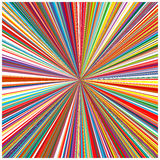 Abstract art rainbow curved lines colorful background. Illustration Stock Images