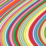 Abstract art rainbow curved lines colorful background. Illustration Stock Image