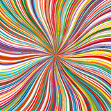 Abstract art rainbow curved lines colorful background Stock Images