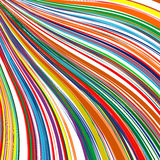 Abstract art rainbow curved lines colorful background. Illustration Stock Photos