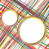Abstract Art Rainbow Curved Stripes Colorful Background Stock Photo