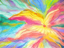 Abstract art rainbow flower color colorful watercolor painting Royalty Free Stock Image