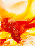 Abstract art red and yellow background, texture painting. Stock Photos