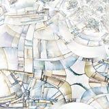 Abstract Art Reminiscent van Stad Royalty-vrije Stock Fotografie