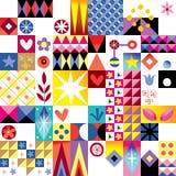 Abstract art retro pattern. Abstract art retro seamless pattern stock illustration