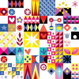 Abstract art retro pattern Stock Photos
