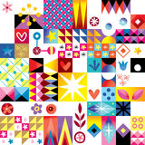 Abstract art retro style pattern Stock Image