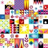 Abstract art retro style pattern. Abstract art retro style seamless pattern vector illustration