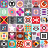 Abstract Art Seamless Background. Composition of abstract geometric patterns. Vector seamless background Stock Images