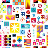 Abstract art seamless pattern Stock Images