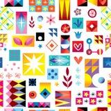 Abstract art seamless pattern. Abstract art retro style seamless pattern royalty free illustration