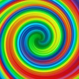 Abstract art swirl rainbow colorful paint background. Illustration Royalty Free Stock Photo