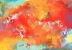 Abstract art texture. Colorful lines. Colorful texture. Modern artwork. Digital painting. Stock Photo