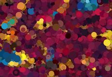 Abstract art texture. Colorful round discs. Colorful texture. Modern artwork. Digital render. Image shows various colorful discs in different sizes. Image have Royalty Free Stock Images