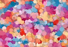 Abstract art texture. Colorful round discs. Colorful texture. Modern artwork. Digital render. Image shows various colorful discs in different sizes. Image have Royalty Free Stock Photo