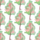 Abstract art tree seamless pattern. Vector illustration Stock Photo