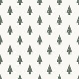 Abstract art vector background. Christmas tree seamless pattern. In modern geometry style. illustration for wrapping paper of fabric. concept winter background Stock Photo