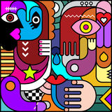 Abstract Art Vector Illustration Royalty Free Stock Image