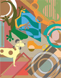 Abstract Art Vector Painting Stock Foto