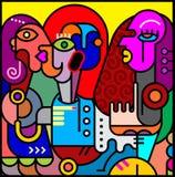 Abstract Art Vector Portrait Stock Foto