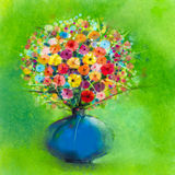 Abstract art watercolor painting of spring flower Stock Photography