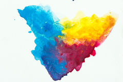 Abstract art watercolor splash watercolor drop. On over white background vector illustration