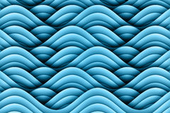 Abstract Art Waves Background Design. A blue abstract waves pattern graphic design background pattern with beautiful symmetry Stock Image