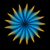 Abstract art work dark flower. Nice abstract art work dark flower stock illustration