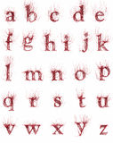 Abstract artery font. Abstract red artery font small Royalty Free Stock Photos