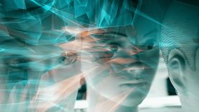Abstract artificial intelligence background, cybernetic future idea stock illustration