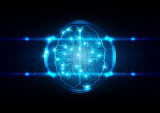 Abstract artificial intelligence concept background. technology. Web background. illustration  design Stock Photos