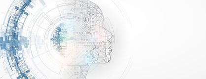 Artificial intelligence. Technology web background. Virtual   Stock Image