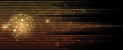 Artificial intelligence. Technology web background. Virtual conc. Abstract Artificial intelligence. Technology web background. Virtual concept Stock Images